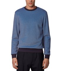 boss men's stadler 35 medium blue sweater