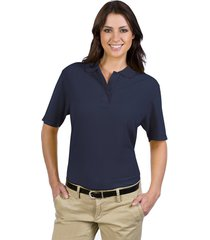 otto ladies' 5.6 oz. pique knit sport shirts navy (2xl)