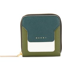 marni squared zip-around wallet - grey