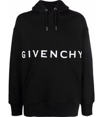 classic embroidered logo hoodie black