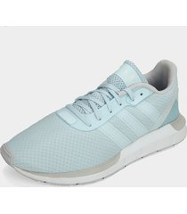 tenis lifestyle azul-gris-blanco adidas originals awift run rf