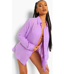 chiffon strand blouse, bright lilac