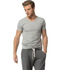 tommy hilfiger men's premium essentials undershirt 3pk black/grey heather /white - s