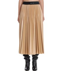 givenchy skirt in beige polyester