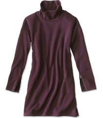 signature fleece sweatshirt dress