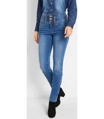 corrigerende stretch jeans buik-benen-billen, slim