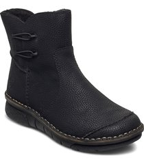 73364-00 shoes boots ankle boots ankle boot - flat svart rieker