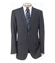 traveler collection slim fit sharkskin men's suit - big & tall by jos. a. bank
