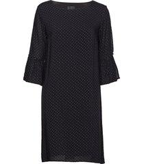 viana 3/4 sl. dress knälång klänning svart pulz jeans