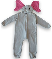 macacã£o pijama elefante gray grey - multicolorido - dafiti