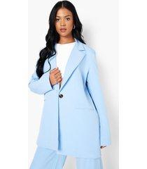 tall oversized blazer, blue