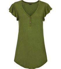 maglia lunga con bottoni (verde) - bodyflirt