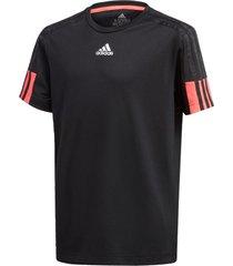 camiseta manga curta adidas b a.r. 3s tee preto - preto - menino - dafiti