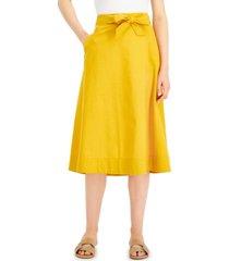 alfani petite tie-waist midi skirt, created for macy's