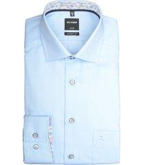 olymp overhemd met borstzak blauw 132254/11