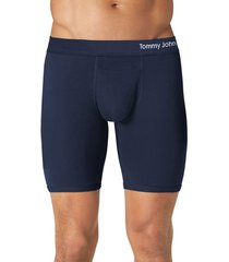 men's tommy john cool cotton performance boxer briefs, size small - blue