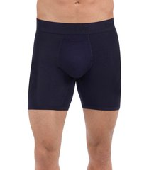 men's tommy john 'second skin' boxer briefs, size medium - blue