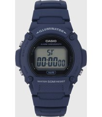 reloj azul casio w-219h-2av