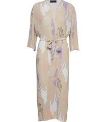 jayla-wrap jurk knielengte roze storm & marie