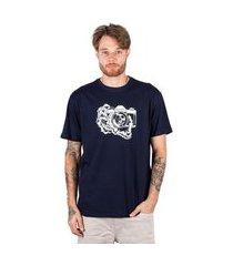 camiseta básica blunt camera - marinho camiseta básica blunt camera - p