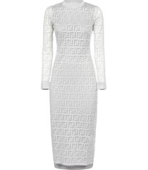 fendi long sleeves ff dress