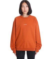 acne studios fierra stamp sweatshirt in orange cotton