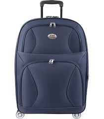 "maleta de viaje tipo cabina rock 20"" azul - explora"