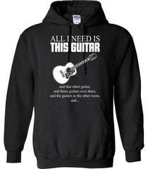 all i need is this guitar blend hoodie