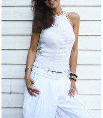 biały top handmade