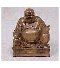 wood sculpture, 'buddha's charm' (indonesia)