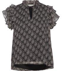 blouse blouses short-sleeved svart sofie schnoor