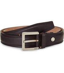 leather slim belt
