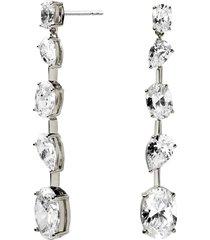 women's nadri chloe cubic zirconia linear drop earrings