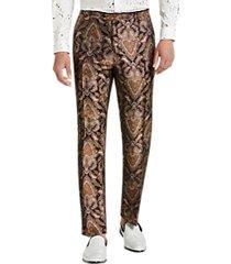 paisley & gray slim fit suit separates formal pants gold & bronze paisley