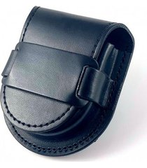 skórzana sakiewka na zegarek - szlufka (black)
