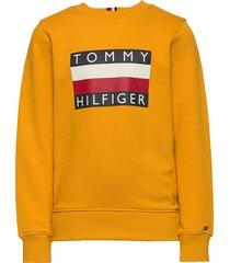 essential hilfiger sweatshirt sweat-shirt trui geel tommy hilfiger