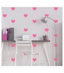adesivo de parede quartinhos infantil coraçáo rosa