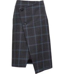 marni checked asymmetric skirt