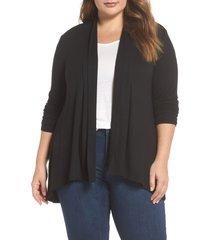 plus size women's bobeau high/low cardigan