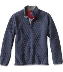 outdoor quilted snap sweatshirt, navy, xx large
