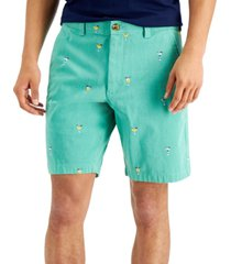 club room men's regular-fit glassware-print shorts, created for macy's