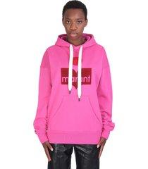 isabel marant étoile mansel sweatshirt in rose-pink cotton