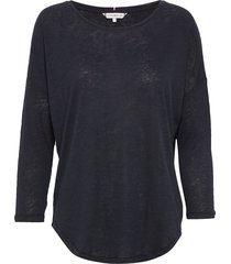 talita round-nk top 3/4 slv t-shirts & tops long-sleeved blauw tommy hilfiger
