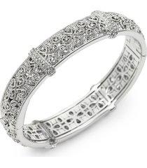 adriana orsini women's pavé filigree bangle bracelet