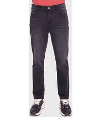 jeans ellus slim tiro medio negro - calce ajustado
