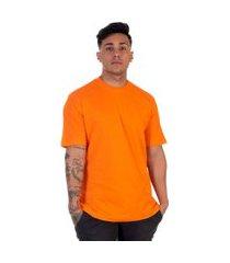 camiseta lucas lunny t shirt gola redonda laranja