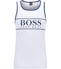 boss men's logo beach tank top