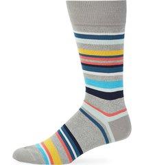 paul smith men's striped knit socks - black