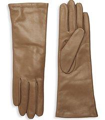 slip-on leather gloves