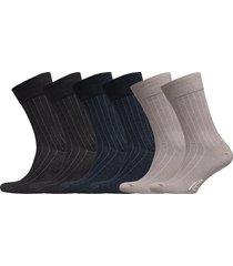 socks 6-p, mercerized cotton underwear socks regular socks svart topeco